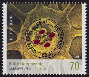 3193 Mikrowelten - Blüte Odermennig 70 Cent O