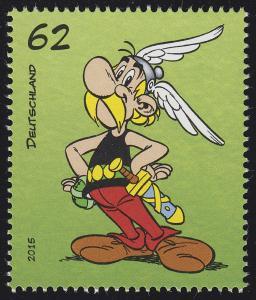 3176 Asterix 62 Cent aus Block 80 Asterix - Dorfalltag **