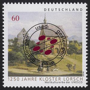 3050 Weltkulturerbe der UNESCO: Kloster Lorsch, nassklebend O