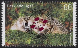 3048 Tierkinder: Igel, nassklebend, O