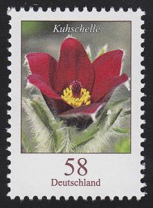 2968 Blumen 58 Cent Kuhschelle nassklebend **