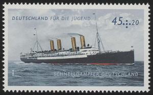 2809 Jugend 45+20 Cent Dampfer Deutschland **