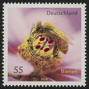 2798 Bienen Honigbiene nassklebend O