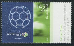 2521 Sporthilfe 145+55 C Fußball-WM WM-Plakat **
