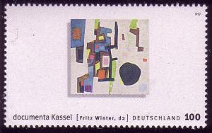 1927 documenta Gemälde von Fritz Winter, aus Block ** postfrisch
