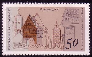 861 Europa 50 Pf Rothenburg/Tauber **