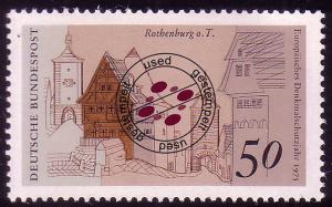 861 Europa 50 Pf Rothenburg/Tauber O