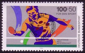 1408 Tischtennis-WM 100+50 Pf O