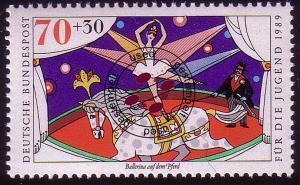 1412 Zirkus 70+30 Pf Ballerina und Pferd O