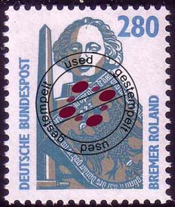 1381 Sehenswürdigkeiten 280 Pf Rolandsäule O
