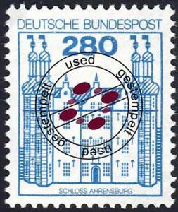 1142 Burgen und Schlösser 280 Pf Ahrensburg, O