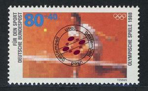 1354 Olympiade Tennis 80+40 Pf O