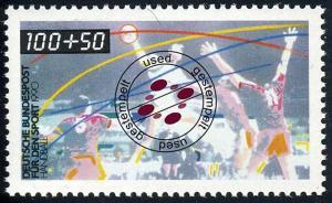 1449 Sportarten 100+50 Pf Handball O