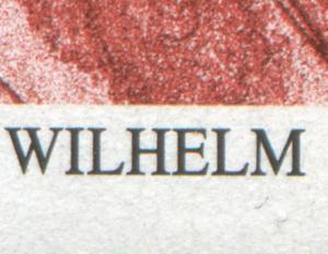 1865 Leibnitz - Ecke mit PLF schwarzer Strich unter dem M von Wilhelm, Feld 1 **