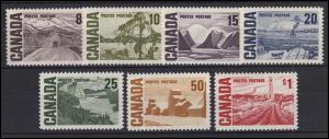 Kanada: Landschaften & Umwelt / Landscapes & Environment 1967, 7 Marken **