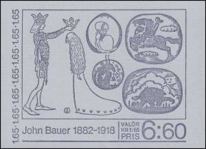 Schweden: Maler John Bauer - Märchenillustrationen 1982, Markenheftchen MH 86 **