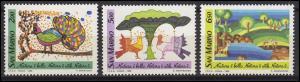 San Marino: Naturschutz & Nature Conservation - Kinderzeichnungen 1989, Satz **