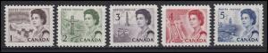 Kanada: Landschaften Umwelt / Landscapes Environment Elizabeth II., 5 Marken **