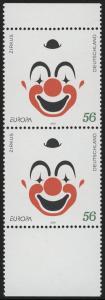 2252 Europa/CEPT Zirkus: Paar aus verschn. Bogen **