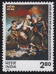 Indien: 200. Jahrestag der USA / American Bicentenary 1976, Marke **