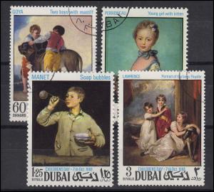 Dubai: Gemälde Paintings Kindertag Childrens Day 1968, Satz O