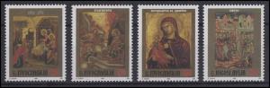 Jugoslawien: Fresken & Wandmalereien - Heilige 1996, 4 Werte, Satz **