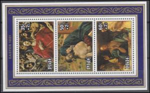 Niue: Easter & Ostern 1981 Gemälde Auferstehung Christus, Block postfrisch **