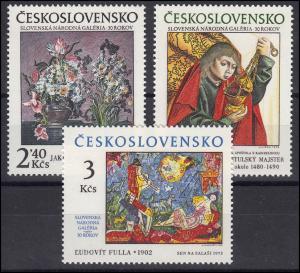 Tschechoslowakei: Gemälde der Nationalgalerie 1978, 3 Werte, Satz **