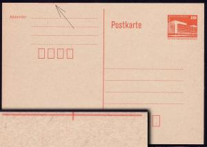 P 86I Bauwerke 10 Pf orange, mit Schnittmarkierung **