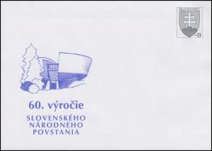 Slowakei: Plusbrief 60. Jahrestag des Slowakischen Nationalaufstandes 2004, **