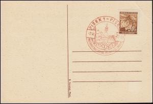 Böhmen und Mähren Sonderpostkarte Briefmarken-Ausstellung EF 64 SSt PISEK 2.6.41
