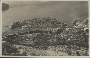 Ansichtskarte Dubrovnik/Kroatien: Panorama der Altstadt, Dubrovnik ca. 1930