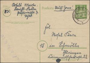 P 2I Holstentor Lübeck 10 Pf. BRÜHL (BZ KÖLN) 31.3.1950 nach Schmölln/Thüringen