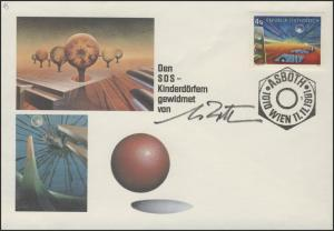 SOS-Kinderdorf Oscar Asboth SSt Wien gedrucktes Autogrammrepro