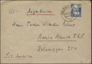 224 Karl Marx 50 Pf EF Auslands-Brief Eisenach 29.3.50