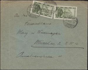 112 Landschaften 30 C. portogerechte MeF Brief ENSDORF 20.10.1931 nach München