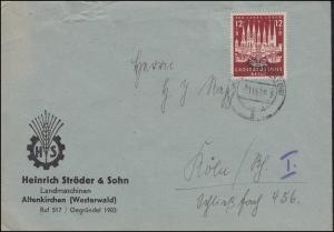 862 Hansestadt Lübeck EF Bf HS Landmaschieen Altenkirchen KÖNIGSWINTER 8.11.1943