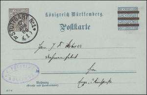 Dienstpostkarte DP 40/11 Forstamt Solitute STUTTGART Nr 1 - 17.4.09 als Orts-PK