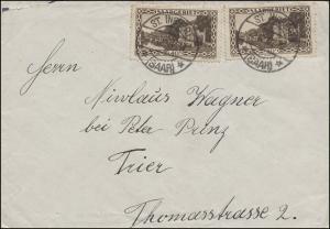 113 Landschaftsbilder Kaserne MeF auf Brief ST. INGBERT (SAAR) 22.12.1930