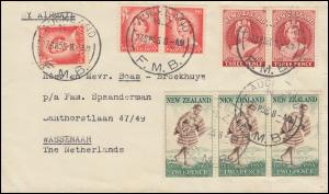 Neuseeland: 348 Jubiläum 100 Jahre Post / Postbote MiF Brief AUCKLAND 27.9.55
