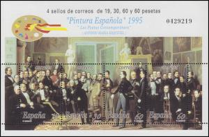 Spanien: Gemälde / Paintings Los Poetas Contemporáneos / Dichter 1995, Block **