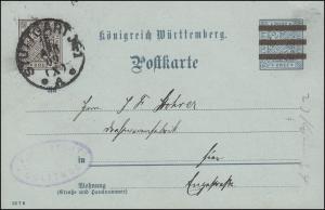 Dienstpostkarte DP 40/11 Forstamt Solitute STUTTGART Nr. 1 - 16.4.09 als Orts-PK