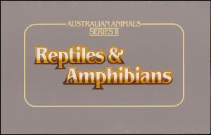 Australien Reptilien und Amphibien Serie II mit 826-829 Satz 1983 im Folder