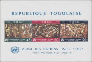 Togo: Wandbild bei der UNO FRIEDEN von Jose Vela Zanetti, Block **
