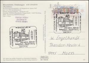 AK Dieselelektr.-Triebwagen 610 514/014, SSt Baienfurt 100 Jahre Bähnle 3.12.11