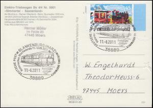 AK Elektro-Triebwagen Nr. 5001 Simmertal-Saanenland, SSt Blankenburg 11.6.11