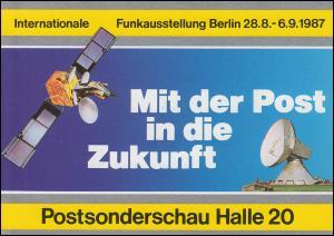 Klappkarte Mit der Post in die Zukunft Funkausstellung SSt BERLIN 27.8.1987