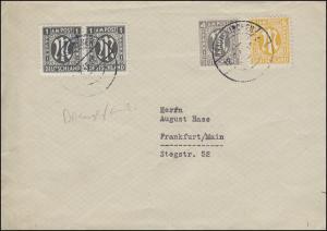 AM-Post-MiF amerikanisch englisch deutsch 1+4+6 Pf Brief TRAUTSKIRCHEN 18.2.1946