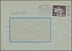 198 Gutenberg-Bibel als EF auf Drucksache Fensterbrief STUTTGART 9 - 10.6.54