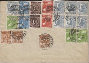 Währungsreform Zehnfachfrankatur Fern-Brief LANGENSALZA 25.6.48 nach Tannenfeld